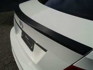 Carbon Fiber Wrapped Mercedes Spoiler