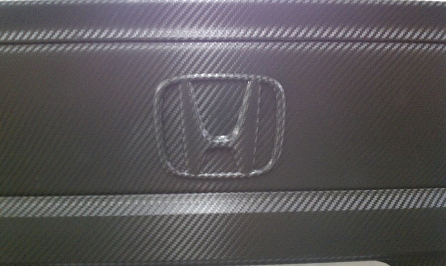 Carbon Fiber Wrapped Civic Trunk Lid & Emblem