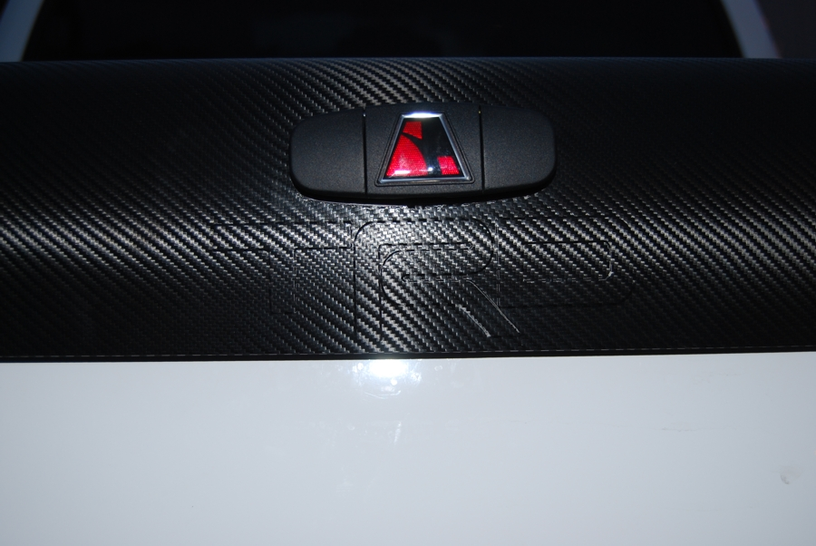 Carbon Fiber Wrapped Tundra Tonneau With Embossed TRD Logo