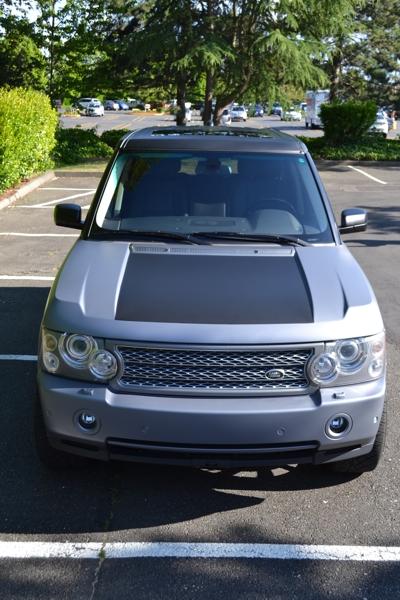 Matte Silver & Matte Black 3M Wrapped Range Rover