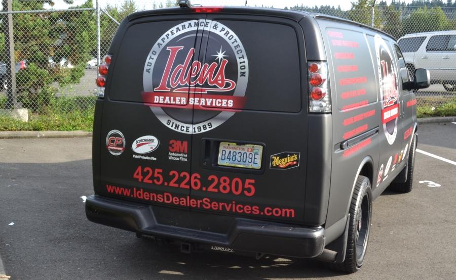Matte Black, Carbon Fiber & Graphic Wrapped Iden's Van